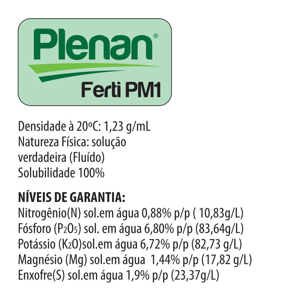 Plenan Ferti PM1 - Solução Nutritiva - Adubo Liquido